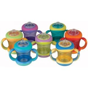 Nuby 9866 No Spill Grip N' Spill Sippy Cups