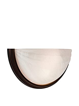 Access Lighting Crest LED 1-Light Wall Sconce, Oil-Rubbed Bronze/Alabaster