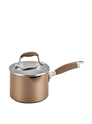 Anolon Advanced Hard-Anodized Nonstick 2-Qt. Covered Straining Saucepan, Brown