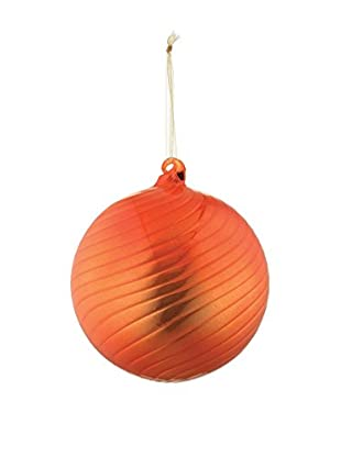 Napa Home & Garden Shiny Swirl Glass Ball Ornament, Orange