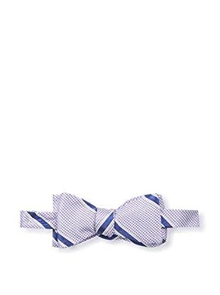 Bruno Piattelli Men's Striped Bow Tie, Lilac