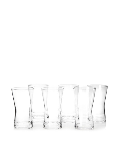 Artland Set of 6 Soho Highball Glasses, Clear