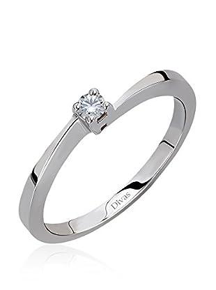 Divas Diamond Anillo 0,07 ct Diamond Solitaire (Plata)