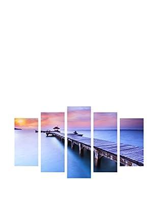 LO+DEMODA Leinwandbild 5 tlg. Set Love And Beach