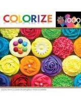 MasterPieces Colorize Cupcake Heaven Jigsaw Puzzle, 1000-Piece