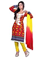 7 Colors Lifestyle Multi Coloured Cotton Unstitched Churidar Material - AEBDR2013HYBY
