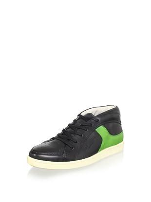 True Religion Men's Lincoln Mid Sneaker (Black/Green)
