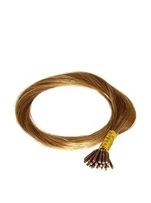 Just Beautiful Hair and Cosmetics 45 cm Echthaarsträhnen 0,5g Stick Extensions / I-Tip Microrings, Remy Haarverlängerung, dunkelblond, 1er Pack (1 x 100 Stück)