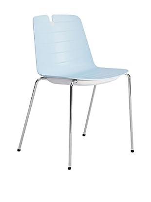 CONTRAST Stuhl 2er Set Mindy azurblau/weiß