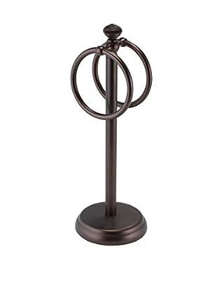InterDesign York Metal Ring Towel Holder, Bronze