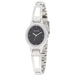 Sonata Analog Black Dial Watch for Women