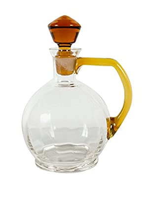 Italian Glass Decanter, Clear/Brown