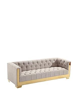 Armen Living Zinc Contemporary Sofa, Taupe