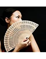 Vintage Style Wooden Art Carved Wedding Party Folding Hand Fan