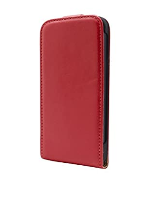 UNOTEC Funda Flip Vertical iPhone 5 / 5S Rojo