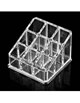 Cosmetic Make Up Clear Acrylic Lipstick Nailpaint Organiser with 9 Sections
