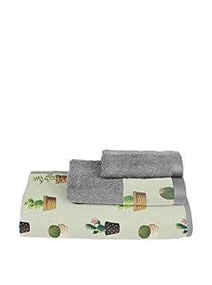 Surdic Handtuch 3 tlg. Set Cactus