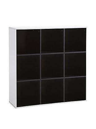 13casa Librería Simply D19 Blanco/Negro