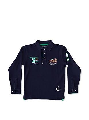 Valecuatro Polo Junior Texto Caballos (Azul Marino)