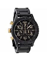 Nixon 42-20 Chrono Black Dial Chronograph Custom Solid Stainless Steel Mens Watch A0371041