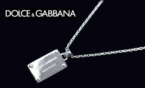 ドルチェ&ガッバーナ プレート ネックレス DOLCE&GABBANA ドルガバ メンズ シルバー