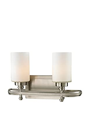 Artistic Lighting Dawson 2-Light LED Sconce, Brushed Nickel