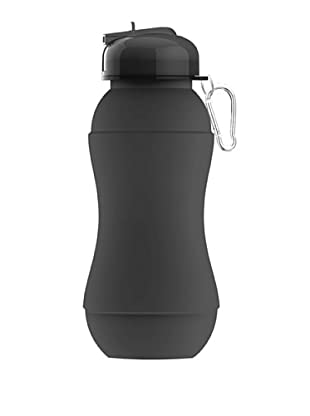 AdNArt Sili-Squeeze Collapsible Silicone Hydra Bottle with Sport Lid (Smoke)