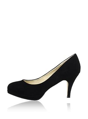 Buffalo London 325531 KID SUEDE 141743 - Zapatos de tacón de cuero  mujer (Negro)