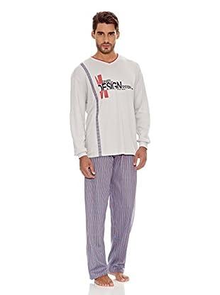 Basket Pijama Cuello Pico Estampada