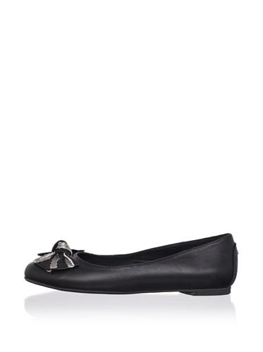 J. Loren Kid's Allina Dress Shoe (Black/Pewter)