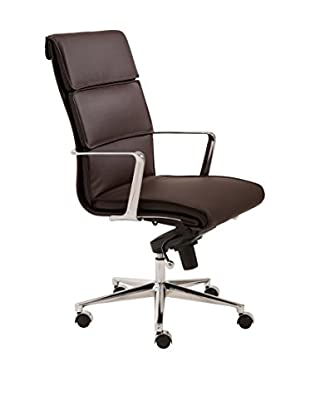 Euro Style Leif High Back Office Chair, Brown