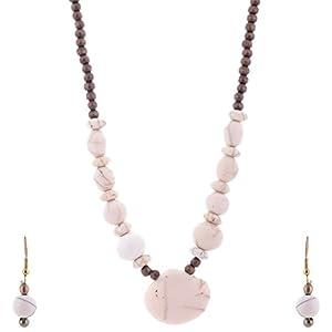 The Crazy Neck White Beads Neck-Piece jewellery Set