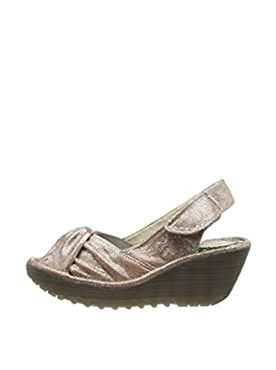 Fly London Sandalias Wedge (Beige)