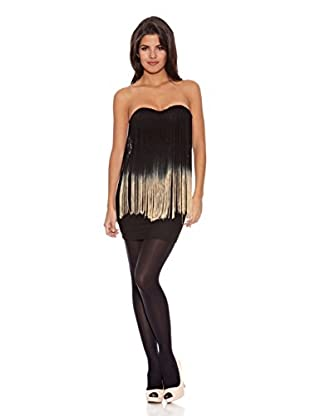 Rare London Vestido Carmen (Negro/Mostaza)