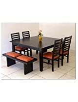 Induscraft Modern Style 6 Seater Dining Table Set