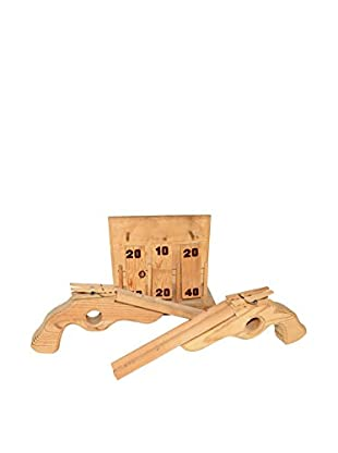 Uptown Down Previously Owned Double-Barrel Rubber Band & Clothespin Wood Gun Set