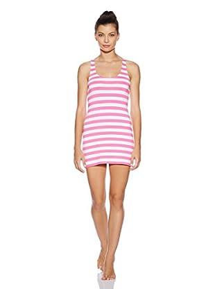 Juicy Couture Vestido Playero Boho Stripe (Fucsia / Crema)