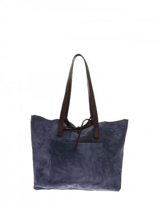 Elysa Tote-Bag Wildleder (Blau)