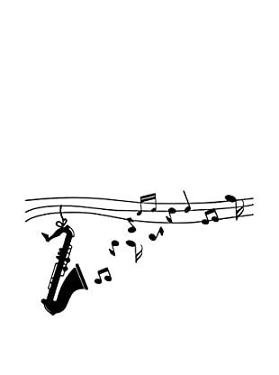 Ambiance Live Vinilo Decorativo Design saxophon Negro