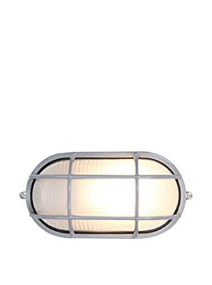 Access Lighting Nauticus 1-Light Bulkhead With Frosted Glass Shade, Satin