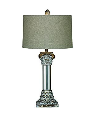 Bassett Mirror Co. Corinth 1-Light Table Lamp, Antique Gold Lucite