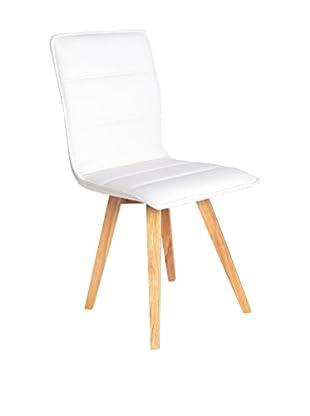 TOPAMBIENTES Stuhl 2er Set weiß
