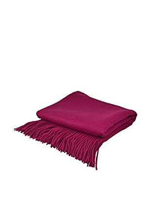 PÜR Cashmere Signature Blend Throw, Magenta