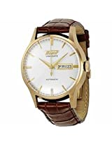 Open Box - Tissot Visodate Automatic White Dial Brown Leather Mens Watch T0194303603101