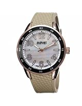 August Steiner Beige Silicone Silver-Tone Base Metal Ladie Watch As8082Gy