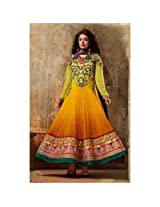 Brijraj Green And Yellow Suit For Women