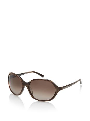 Jil Sander Women's Oversized Round Sunglasses, Striped Chocolate