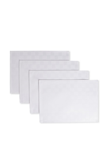 Bardwil Set of 4 Reflections Placemats (White)