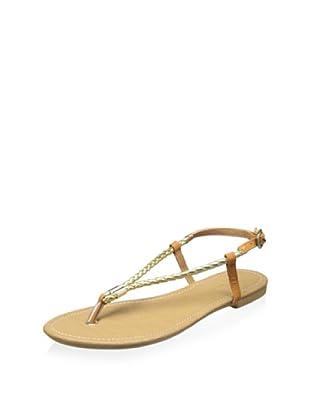 SK by Skemo Women's Palau Rope Flat Sandal (Gold)