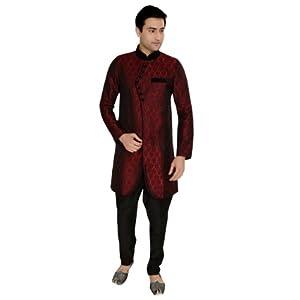 Utsav Fashion MAM137 Indo-Western Sherwani - Maroon